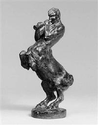 flöte spielender kentaur by louis de monard