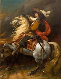 retrato ecuestre de josias rantzau, mariscal de francia by jean alaux