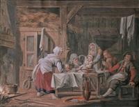 tischgesellschaft by pietersz (pieter) barbiers
