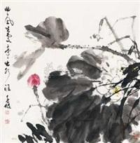 荷香图 by deng yuanpo