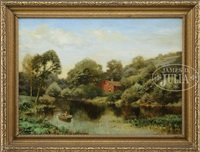 the mill pond, mid-summer by henry pember smith