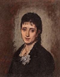 retrato de una joven by benito mercade y fabregas