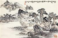 王维诗意 镜心 纸本 by zhou kai