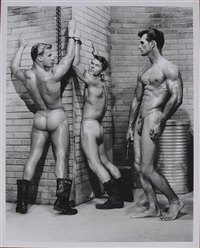 thad, dick, jim and friend, kelly, tex, burton and fanning and howard, don and juan (3 works) by bob mizer