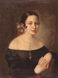 retrato de una joven (¿antonia de zárate?) by josé gutiérrez de la vega
