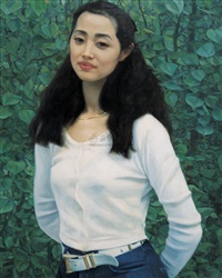 刘蓓像 (portrait of liu bei) by hu jiancheng