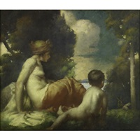mother and child by louis david vaillant