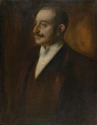 portrait eines herrn in abendgarderobe by leo samberger