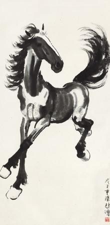奔马图 (horse) by xu beihong