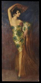 flamenco dancer by jose llasera y diaz