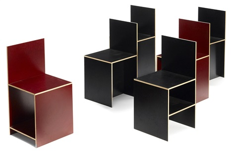 chairs set of 6 by donald judd