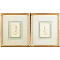 pair drawings on by kate greenaway