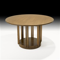 pedestal dining table by eliel saarinen