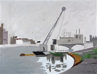 landschaft mit fabrik by henry wabel