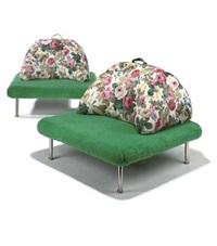wimbledon lounge chairs (pair, in collab. w/piero derossi & riccardo rosso) by giorgio ceretti