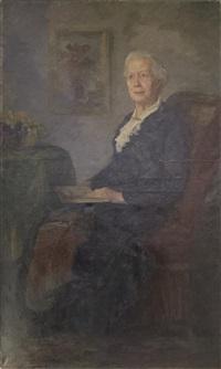 damenportrait im lehnstuhl by oskar frey