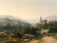 große landschaft in tirol by thomas ender