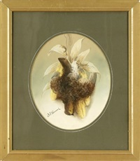 nature morte with a game bird and cornstalks by george luis viavant