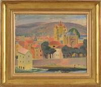 vue de ville, les toits rouges by wilhelm gimmi