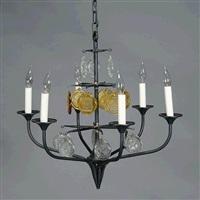 hanging six light scandinavian light fixture by erik höglund