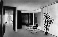 ludwig mies van der rohe: erdgeschosswohnhaus auf der deutschen bauausstellung, berlin by emil leitner
