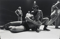tag-team partners, wrestling, houston (from a texas dozen) by geoff winningham