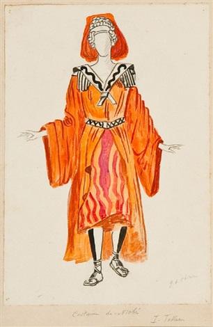 costume per niobe by giorgio de chirico