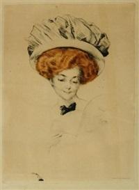 porträt einer dame bei der lektüre by otto goetze