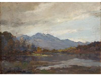 autumn (ben venue and loch achray) by archibald kay
