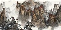 松壑秋山万里霜 (landscape) by bai qizhe