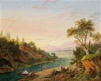 blick in eine weite flusslandschaft by matthias rudolf toma
