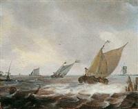 seelandschaft mit schiffen by julius porcellis
