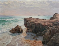 rocky coastline at dawn by ulrich w. fisher