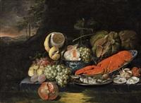 still life with lobster by jan pauwel gillemans the elder