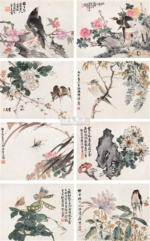 flower and bird by cheng guanhou