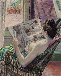 figura leyendo by rafael llimona benet