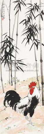 竹报平安 cock by xu beihong