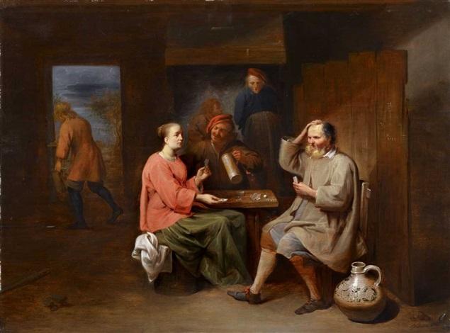 interieur mit kartenspielern by david ryckaert iii