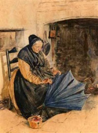 the old umbrella maker by william henry charles groome