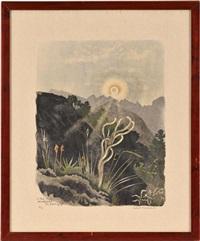le soleil se lève sur montorge, montorge, 20 juin by robert hainard