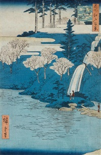 meguro chiyogaike (from meisho edo hyakkei) by ando hiroshige