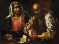 a pair of farmers eating - the sense of taste by bernhard keil
