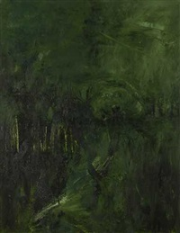 grün-violett (diptych) by rainer wölzl