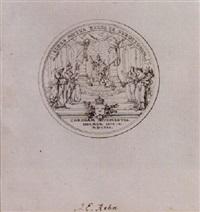 medalj med kunglig kröning by jean-eric rehn