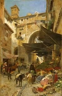 marktstände in rom by franz theodor aerni