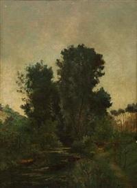 paysage et rivière by paul emmanuel péraire
