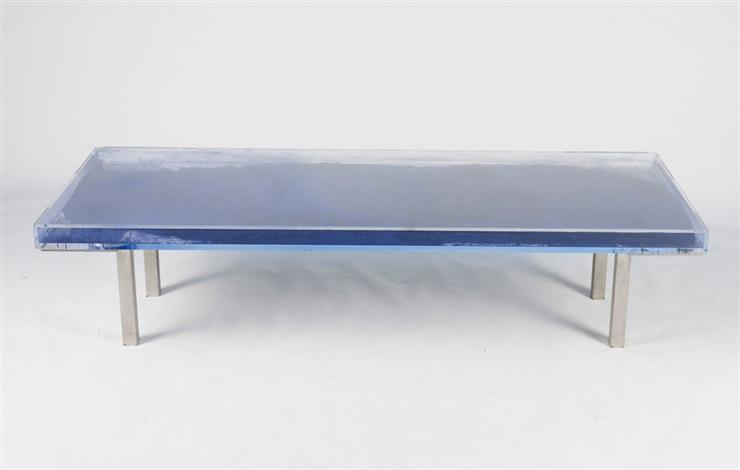 sofatisch blue by yves klein