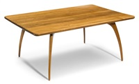 drop-leaf dining table by richard pohlers