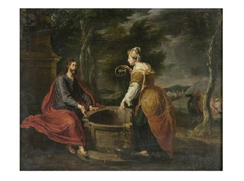 cristo y rebeca en el pozo by willem van herp the elder