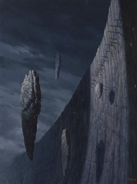 die monde von jonissar (cover for novel) by christophe vacher
